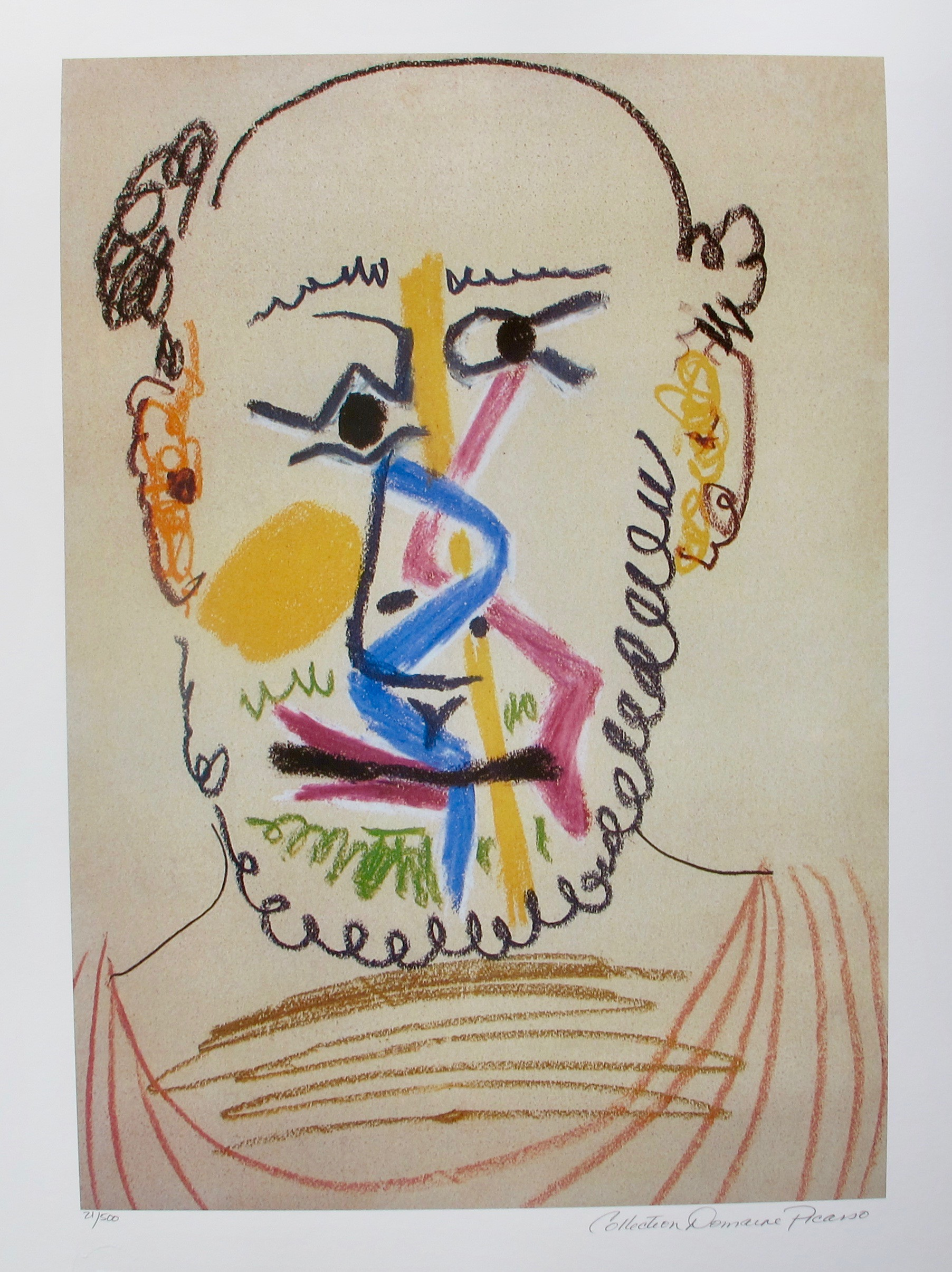 #145 HALF BALD MAN WITH BEARD Pablo Picasso Estate Signed Giclee
