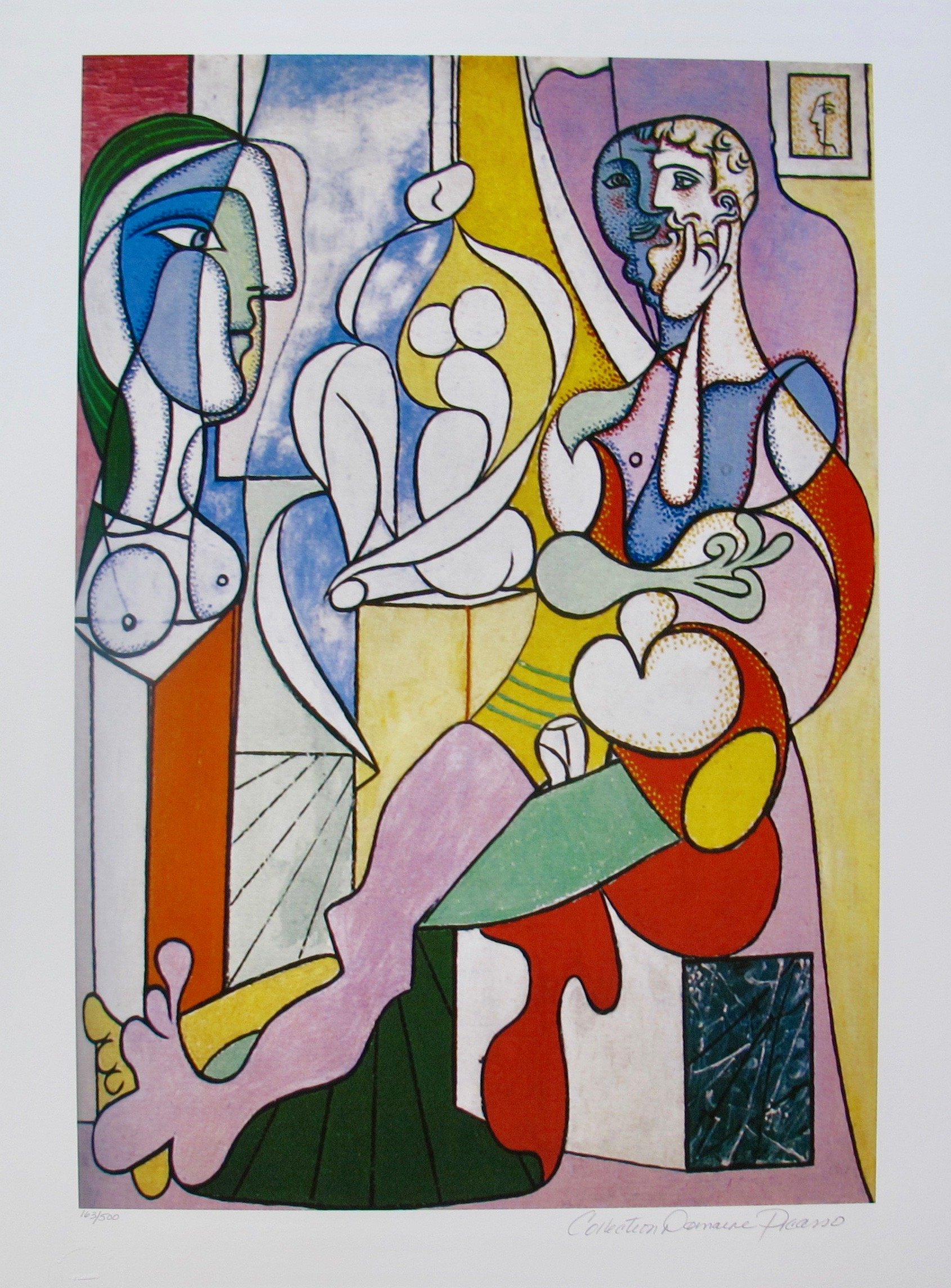 #36 ARTIST WITH SCULPTURE Pablo Picasso Estate Signed Giclee