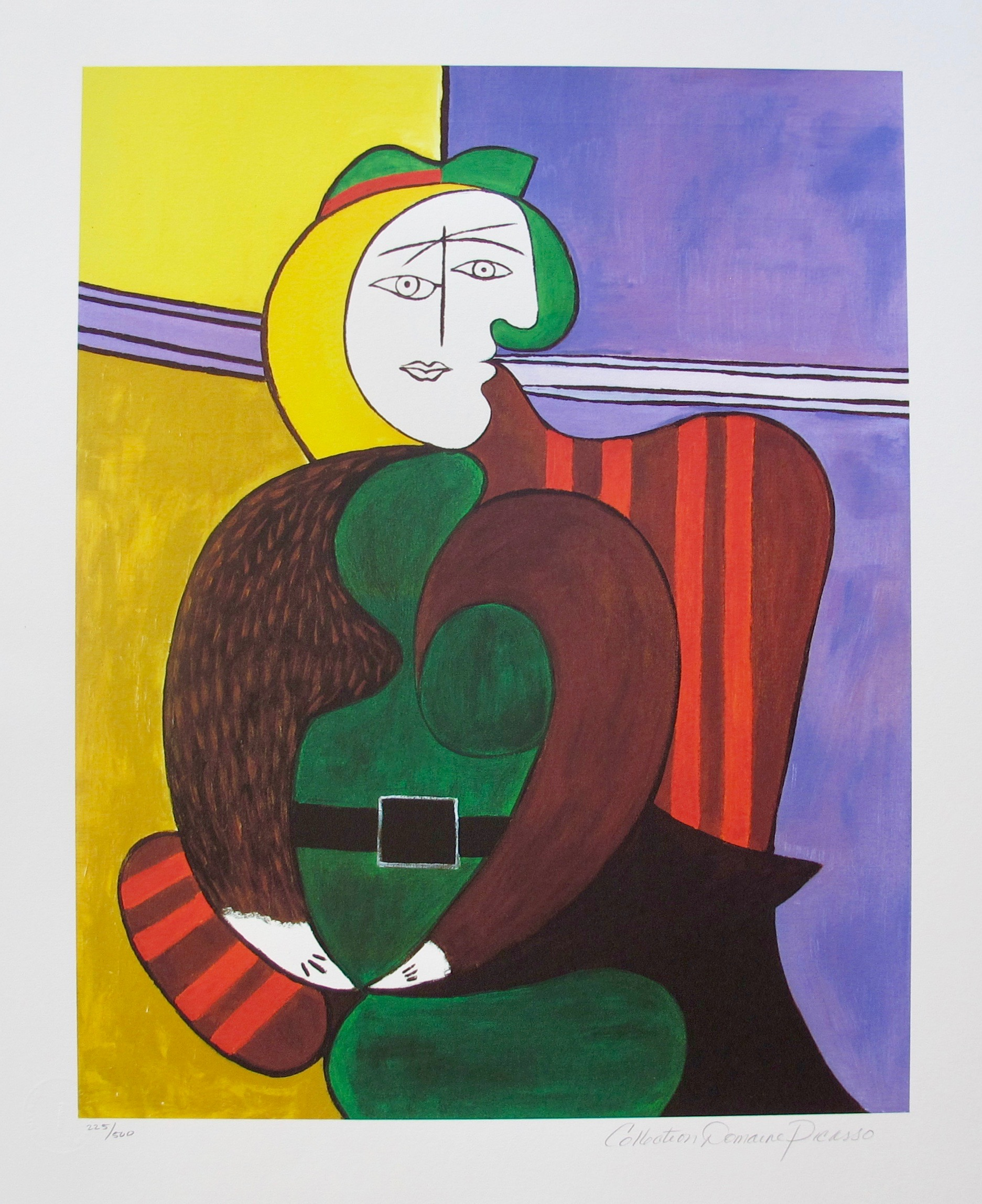 #50 THE RED ARMCHAIR Pablo Picasso Estate Signed Giclee