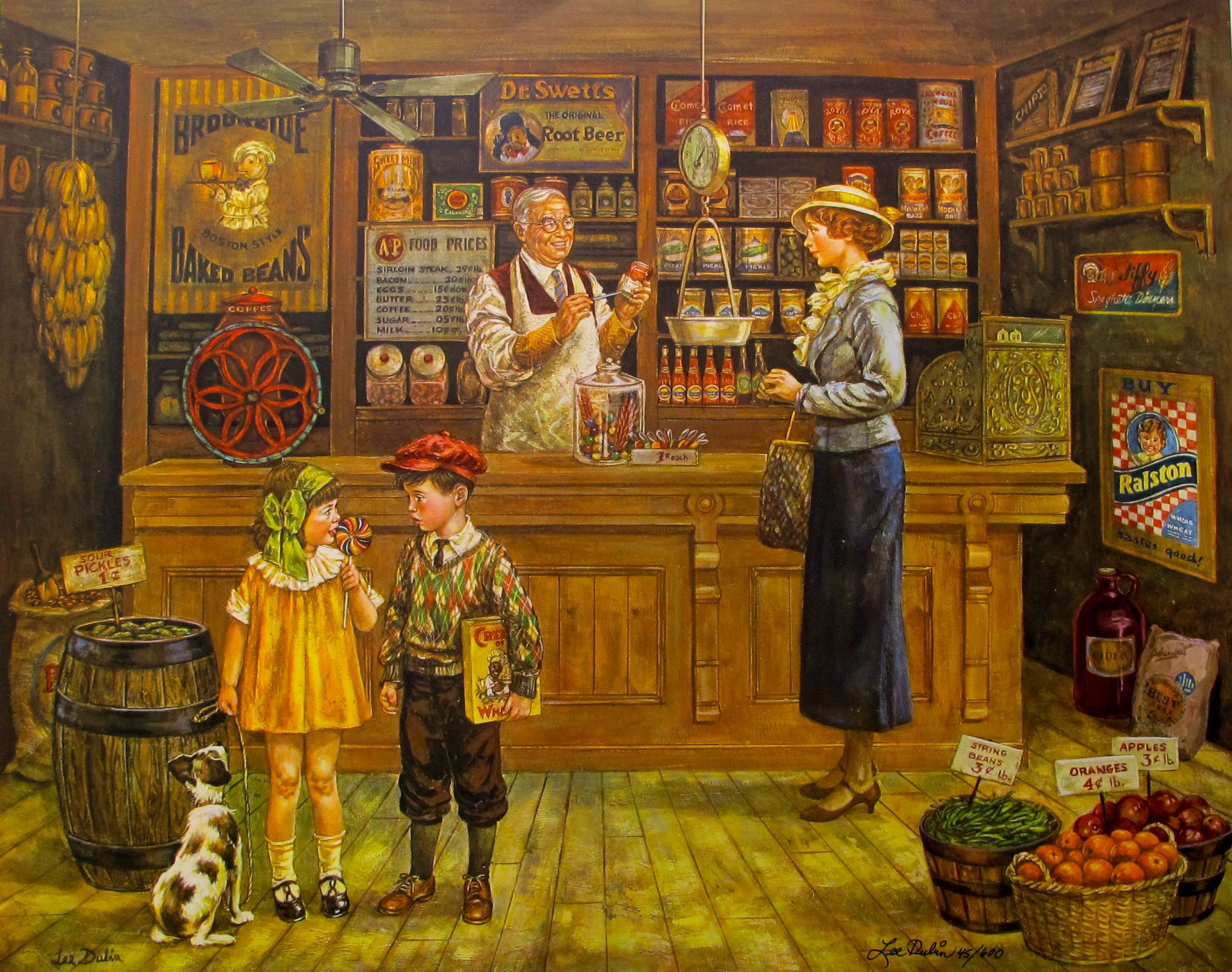 Lee Dubin 1932 GENERAL STORE Hand Signed Limited Edition Lithograph