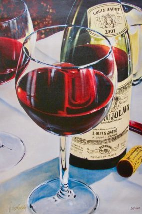 Victor Ostrovsky BEAUJOLAIS Hand Signed Limited Edition Giclee on Canvas
