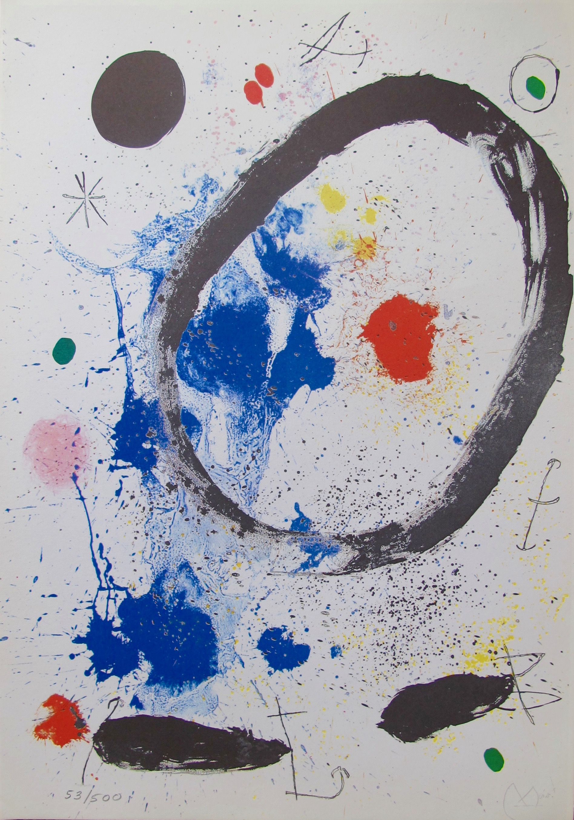 Joan Miro TWILIGHT'S RING Facsimile Signed Limited Edition Lithograph