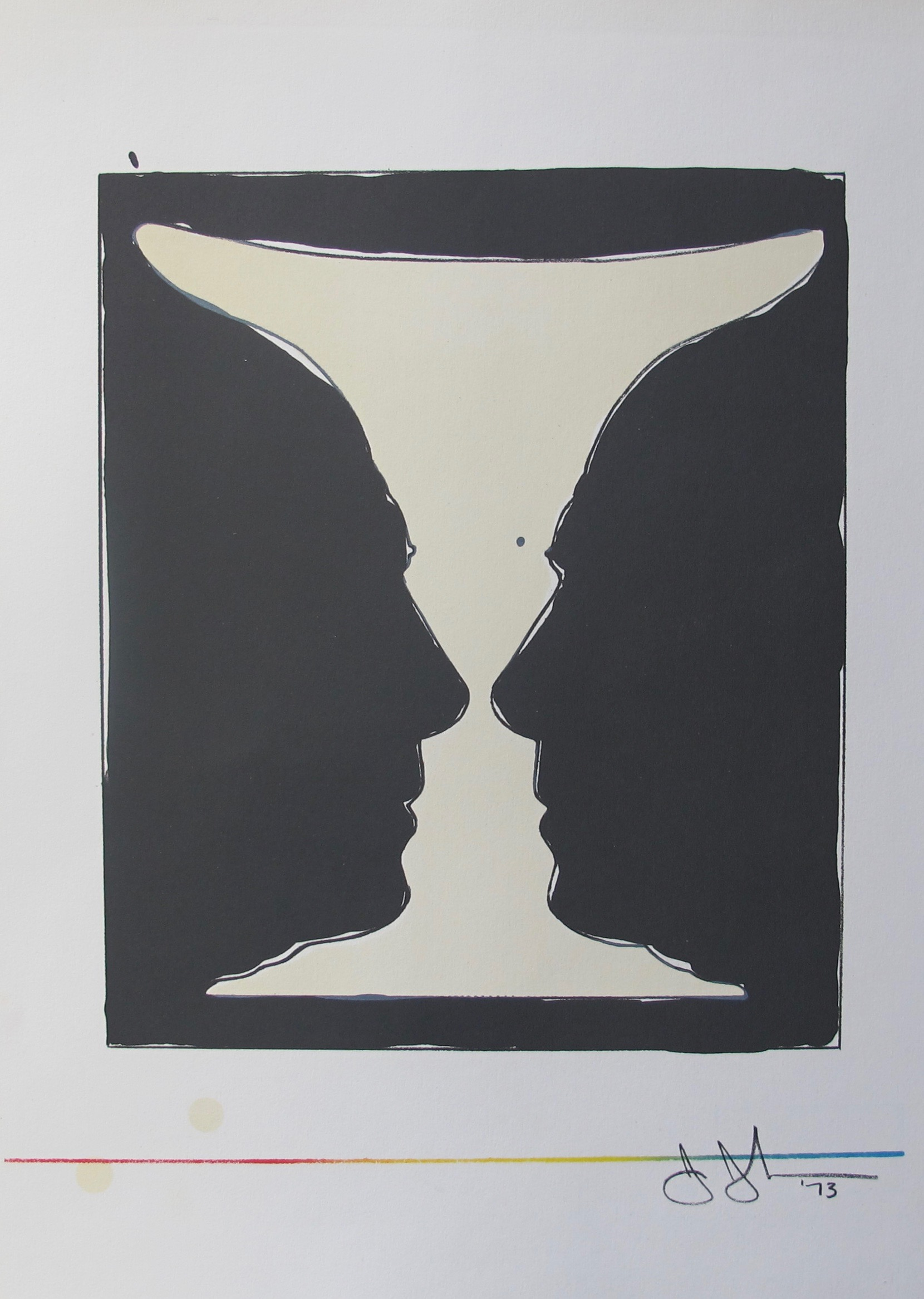 Jasper Johns CUP 2 PICASSO 1973 Plate Signed Lithograph Art by XXe Siecle Paris