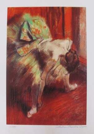EDGAR DEGAS L'ATTENTE The Waiting Dancer Estate Signed Limited Edition Giclee