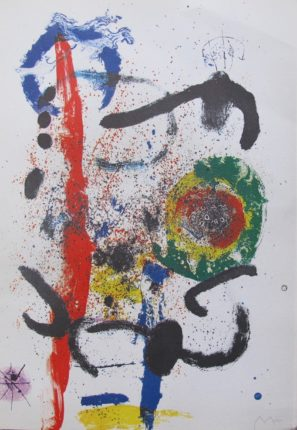 Joan Miro LA CASCADA Facsimile Signed Limited Edition Lithograph Art