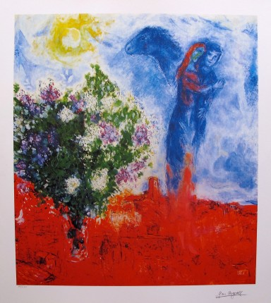 Marc Chagall COUPLE ABOVE ST. PAUL Limited Edition Lithograph