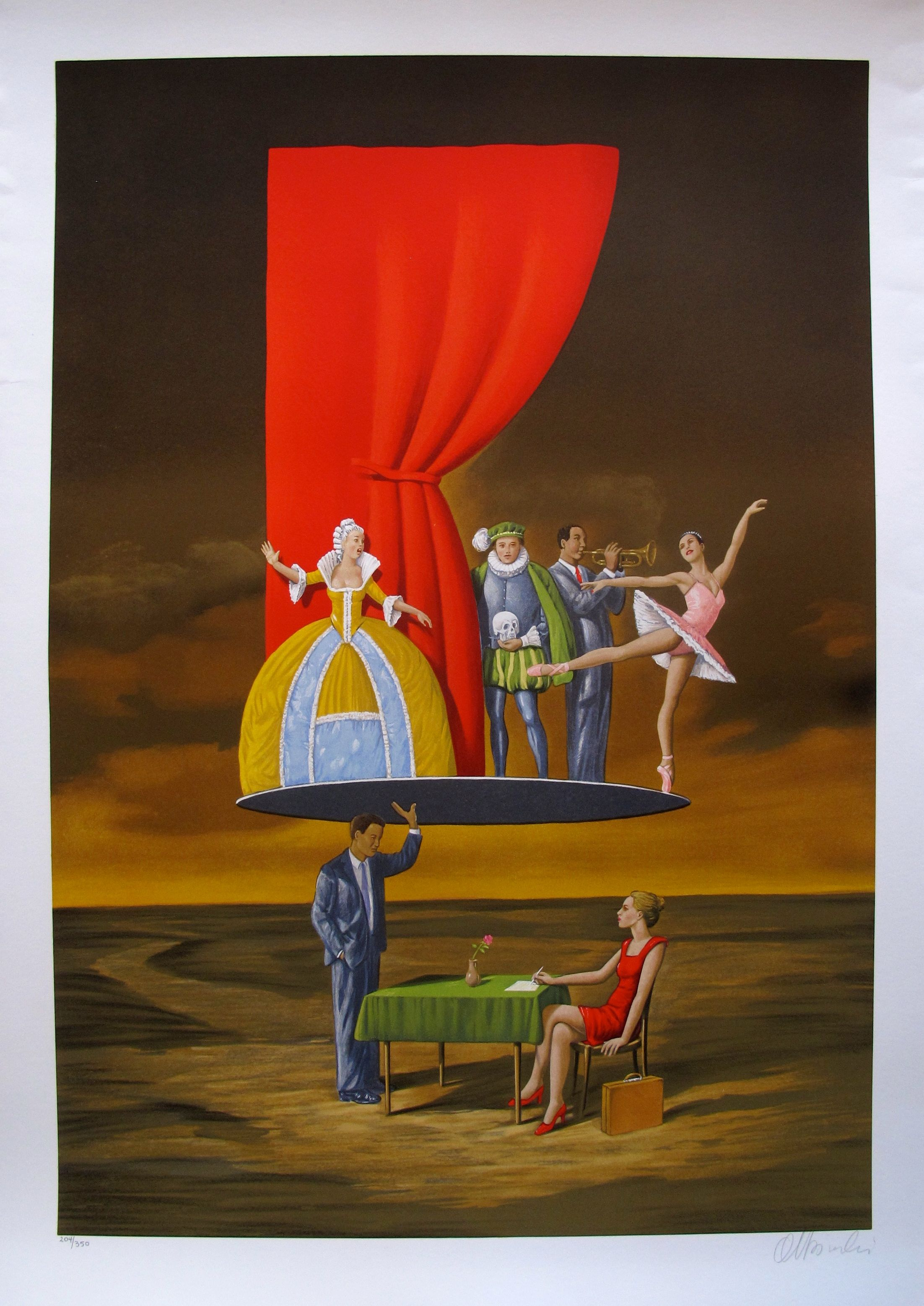 "RAFAL OLBINSKI ""PREDICTABLE ASSUMPTION"" Hand Signed Limited Edition Serigraph"