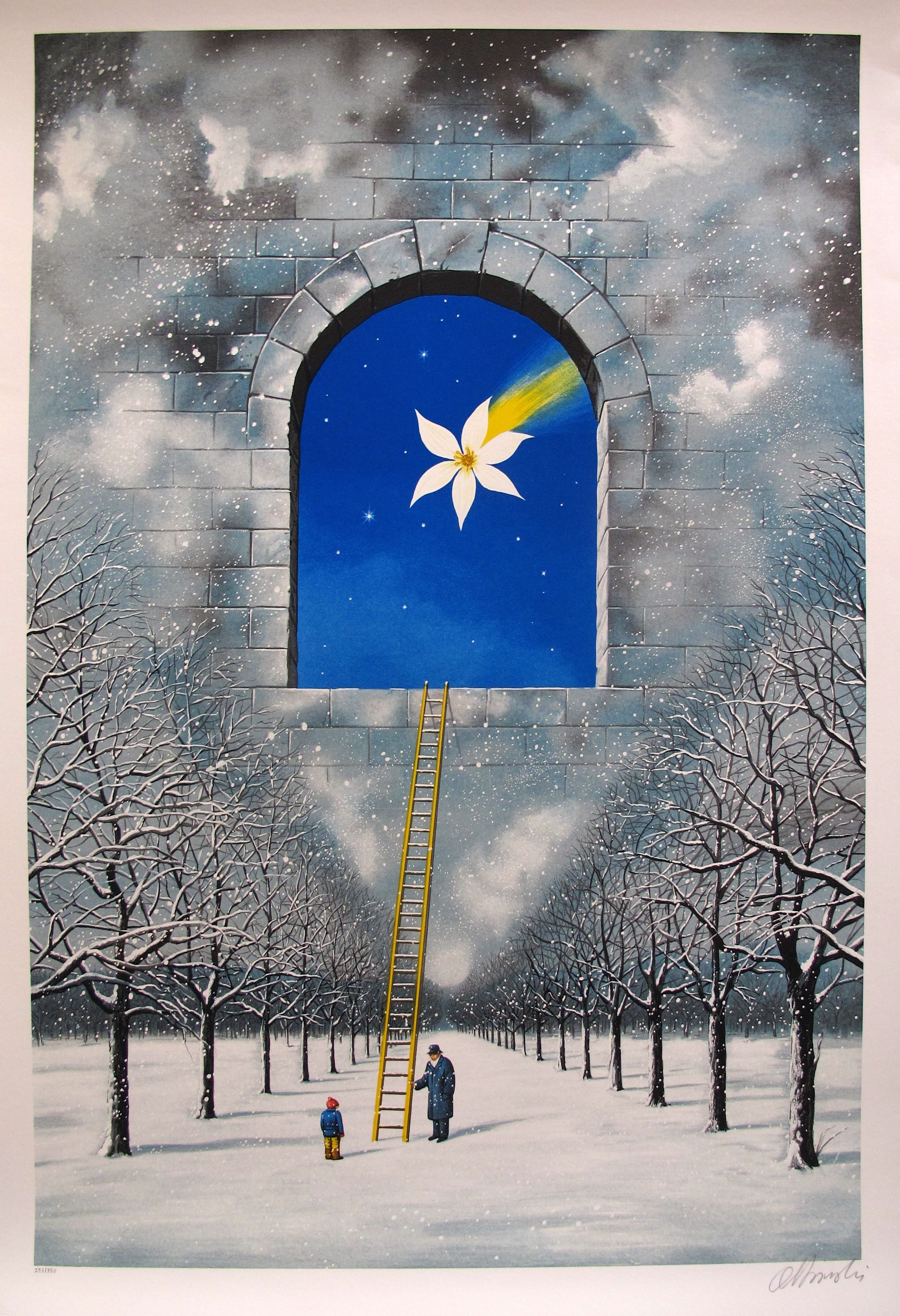 "RAFAL OLBINSKI ""MAGICAL TRANSPARENCY OF TIME"" Hand Signed Limited Edition Serigraph"