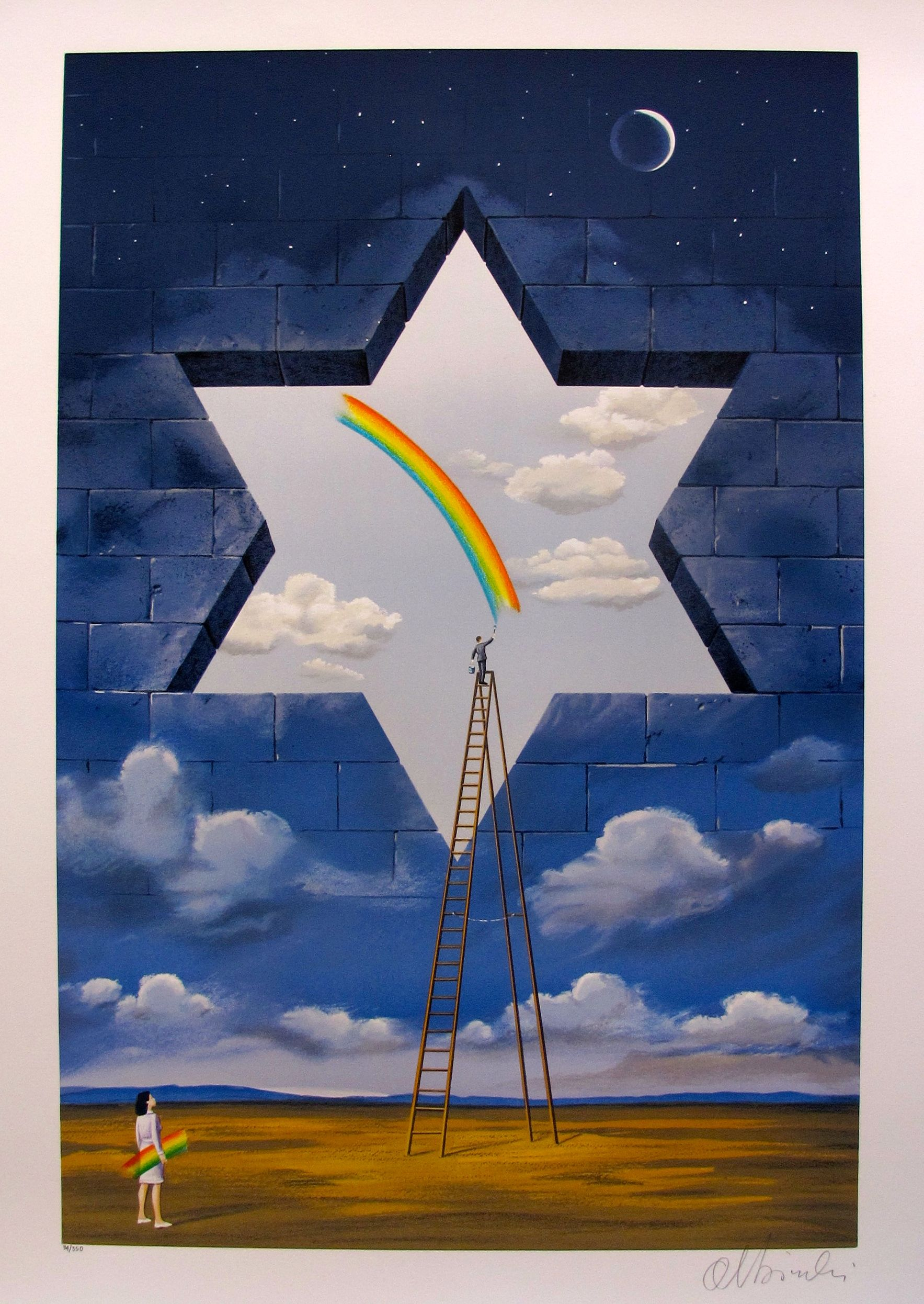 """RAFAL OLBINSKI """"PROCLAMATION OF VALUE"""" Hand Signed Limited Edition Serigraph"""