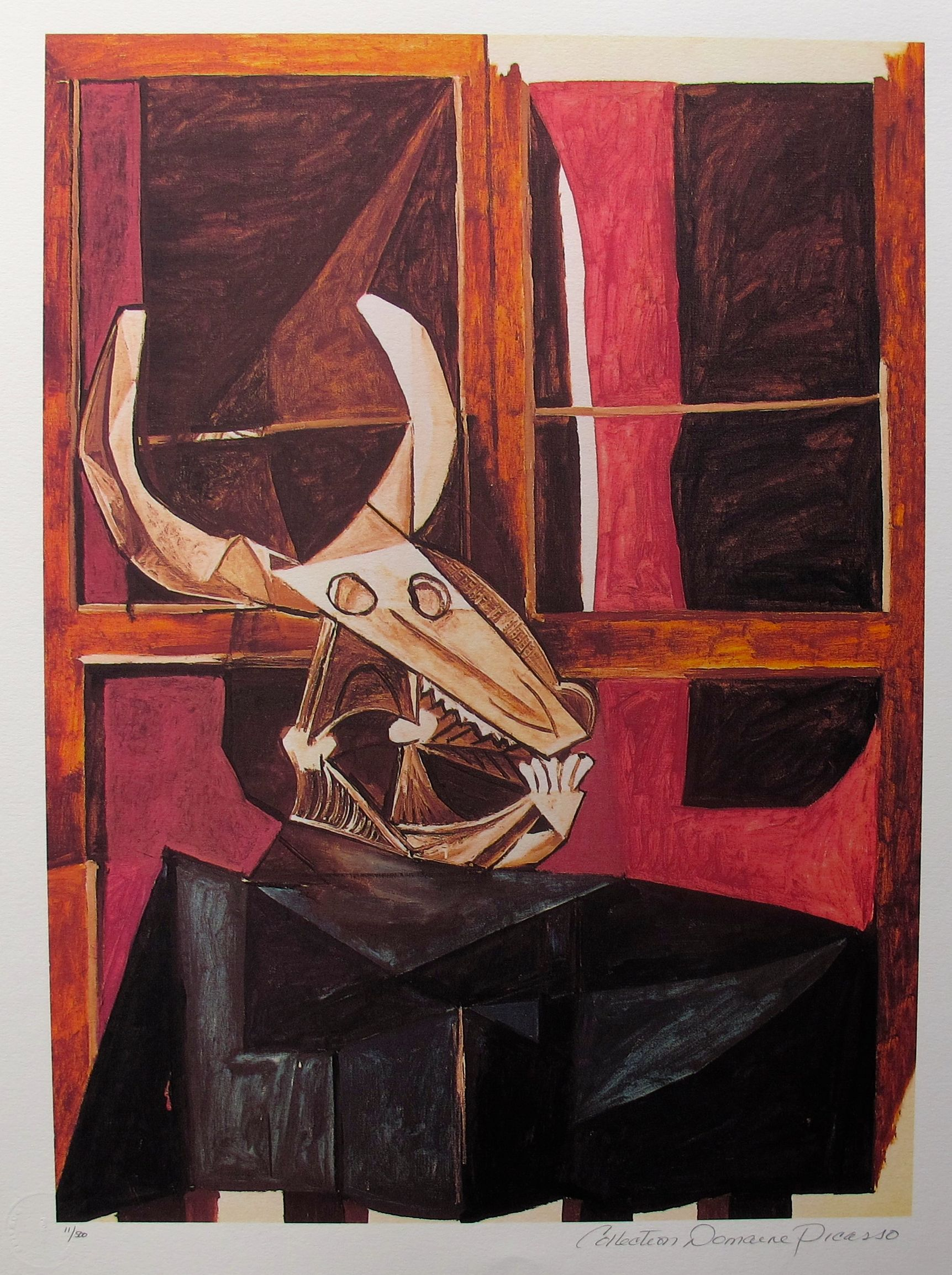 #087 BULLHEAD STILL LIFE Pablo Picasso Estate Signed Giclee