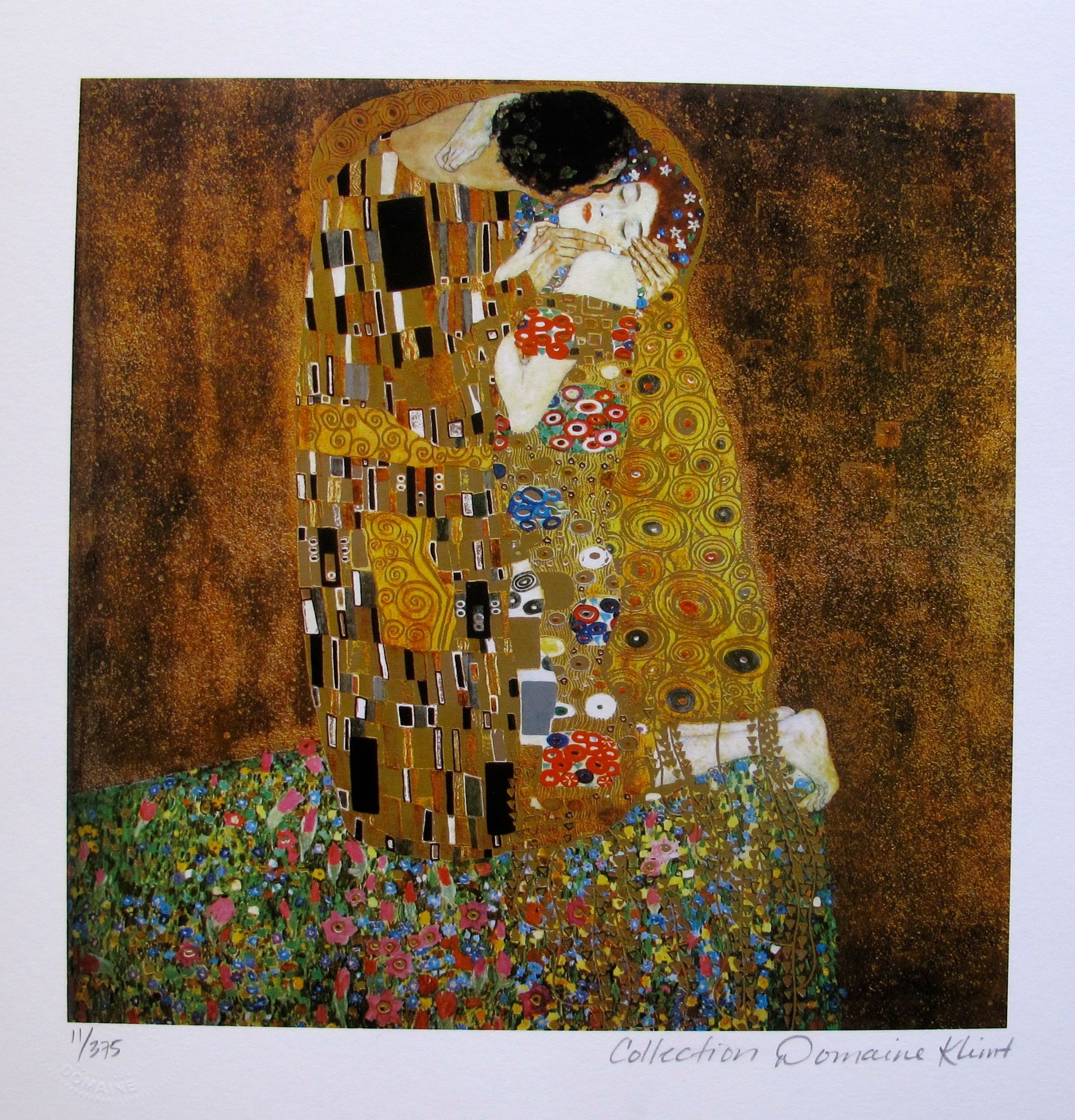 "GUSTAV KLIMT ""THE KISS"" Estate Signed Limited Edition Giclee"