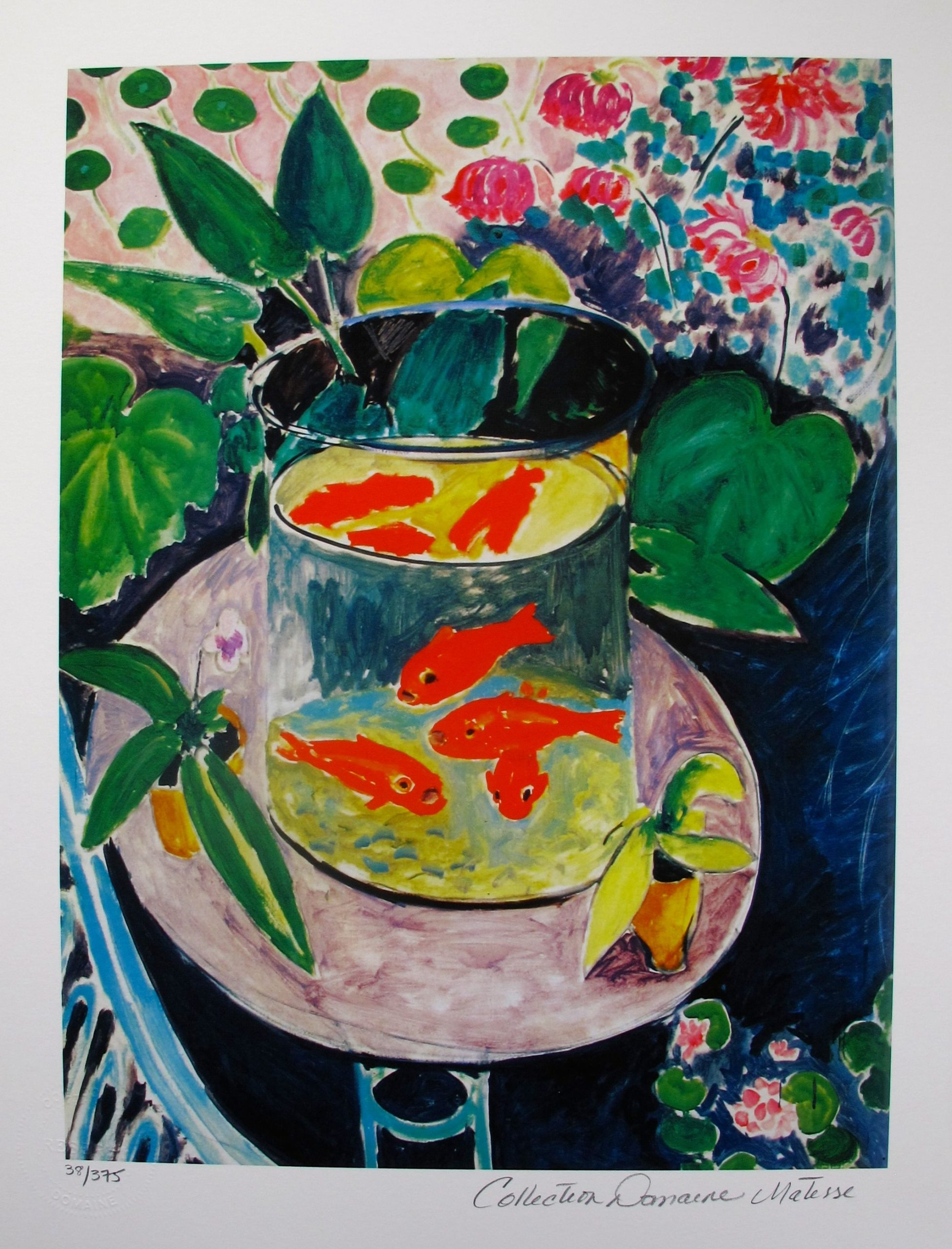 Henri Matisse GOLDFISH Estate Signed Limited Edition Small Giclee