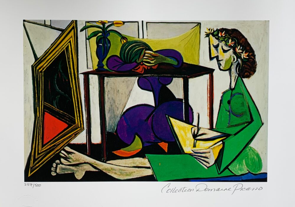 Picasso INTERIOR WITH GIRL DRAWING