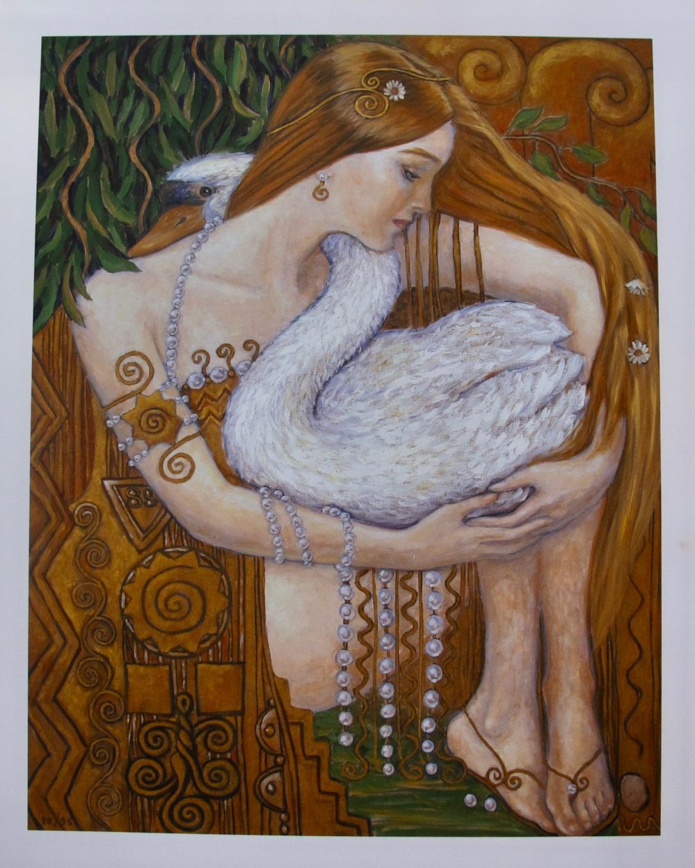 IRINA VITALIEVNA KARKABI Swan Princess Hand Signed Limited Edition Giclee