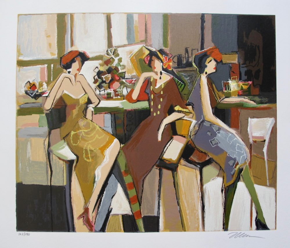 ISAAC MAIMON SOCIETY TRIO Hand Signed Limited Edition Serigraph