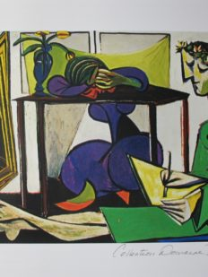 Pablo Picasso INTERIOR WITH GIRL DRAWING Estate Signed Limited Edition Giclee