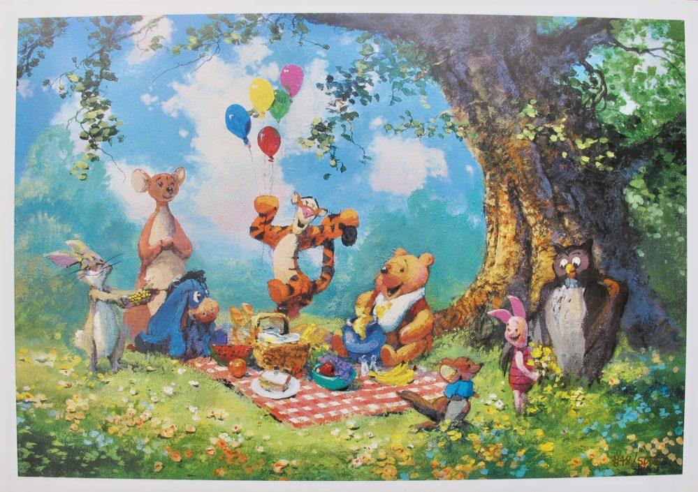 JAMES COLEMAN SPLENDIFEROUS PICNIC Lithograph Winnie the Pooh Tigger Piglet Roo