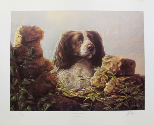 JOHN SILVER ENGLISH SPRINGER SPANIEL Hand Signed Limited Edition Art Lithograph