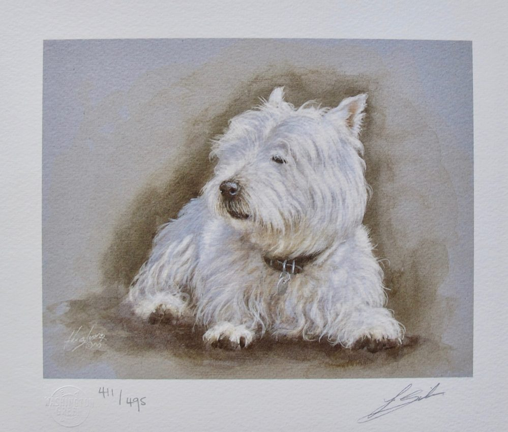 JOHN SILVER Scottie Hand Signed Limited Edition Lithograph Scottish Terrier Dog