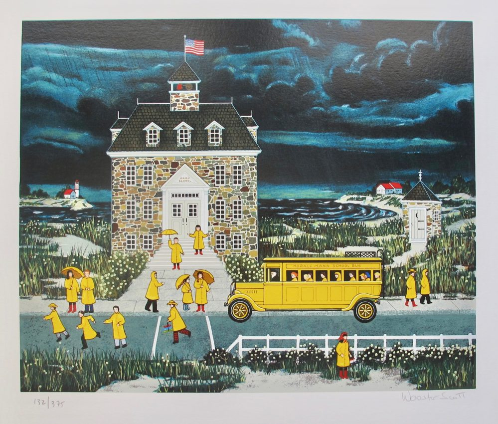 Jane Wooster Scott DOWNTOWN DOWN EAST Hand Signed Limited Edition Serigraph