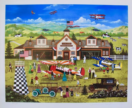 Jane Wooster Scott FRANKLIN FIELD'S FIRST ANNUAL FAIR Hand Signed L/E Lithograph