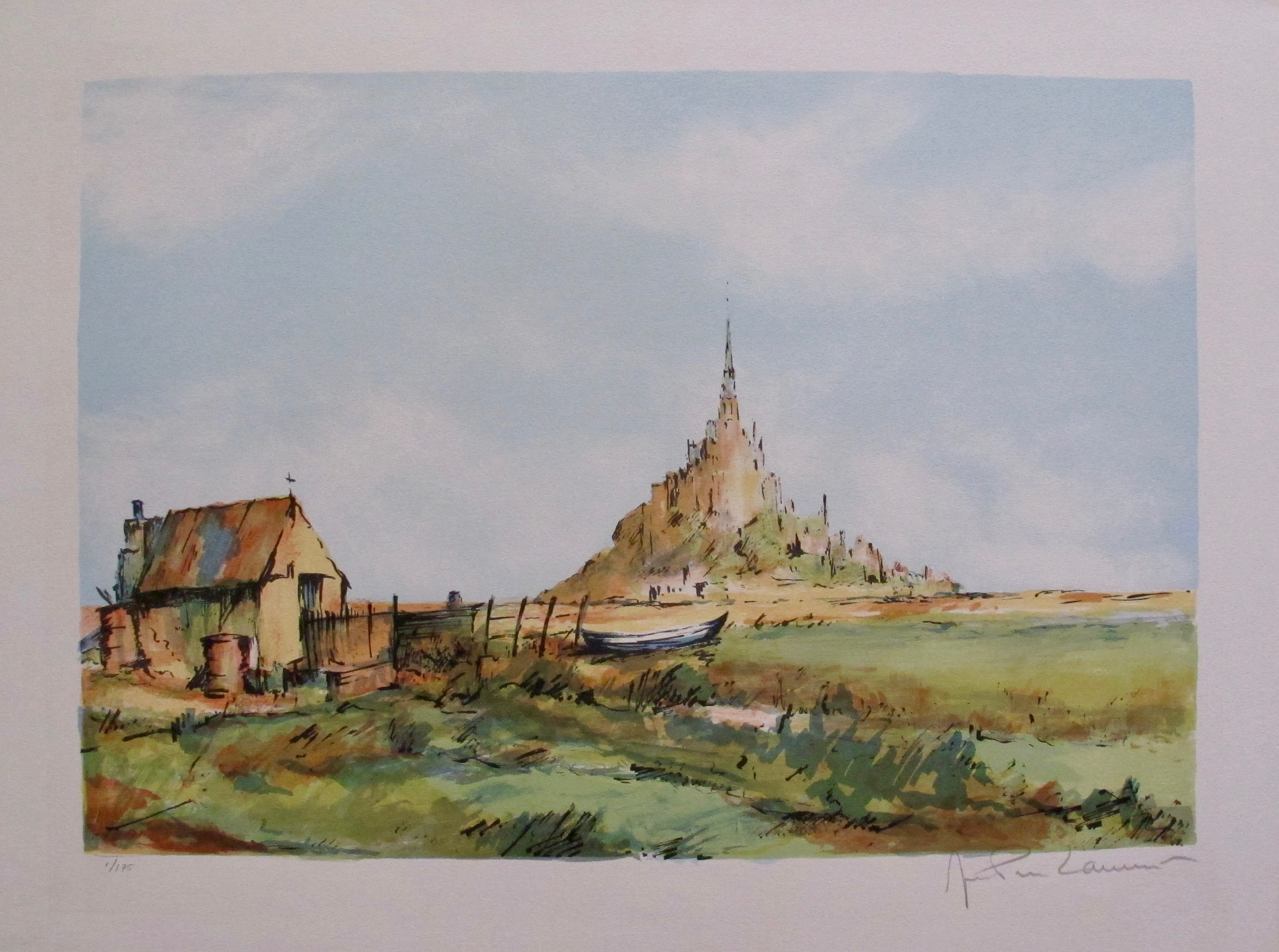 JEAN PIERRE LAURENT Home Hand Signed Limited Edition Lithograph FRANCE