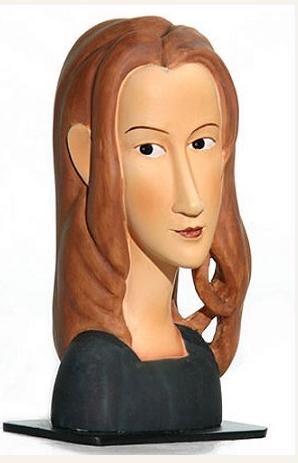 Amedeo Modigliani JEAN HEBUTERNE FACE Sculpture