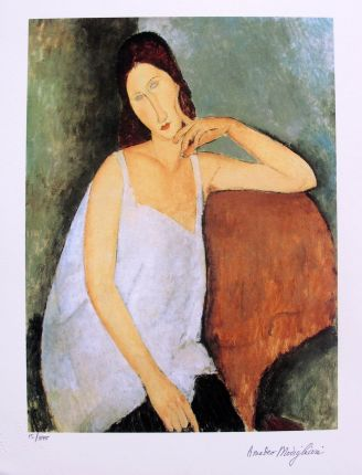 "Amedeo Modigliani ""PORTRAIT OF JEANNE HEBUTERNE"" Estate Signed Limited Edition Small Giclee"