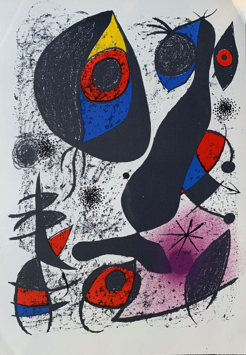 Joan Miro A La Encre I 1982 Limited Edition Lithograph
