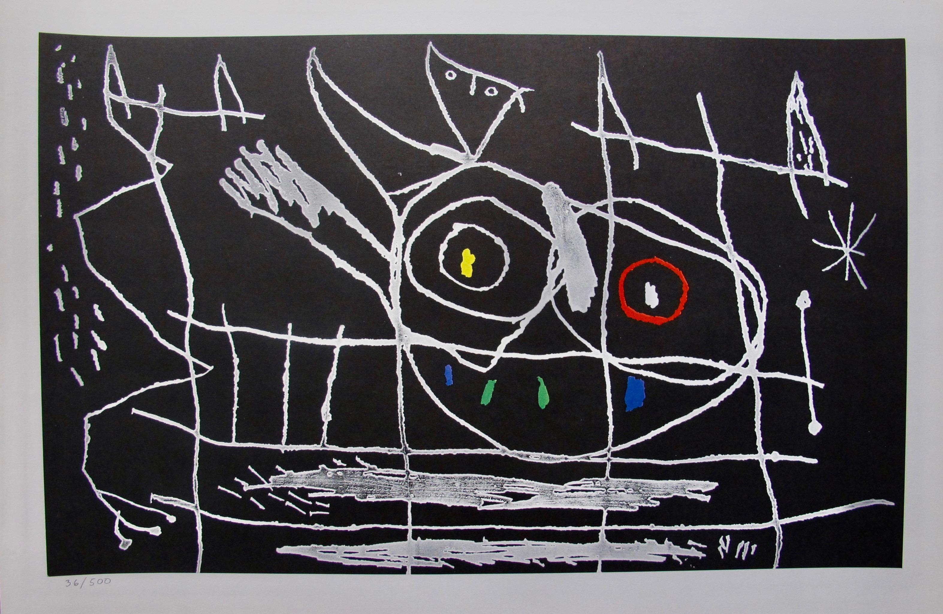 Joan Miro Couple d'Oiseaux III 1972 Limited Edition Lithograph Art
