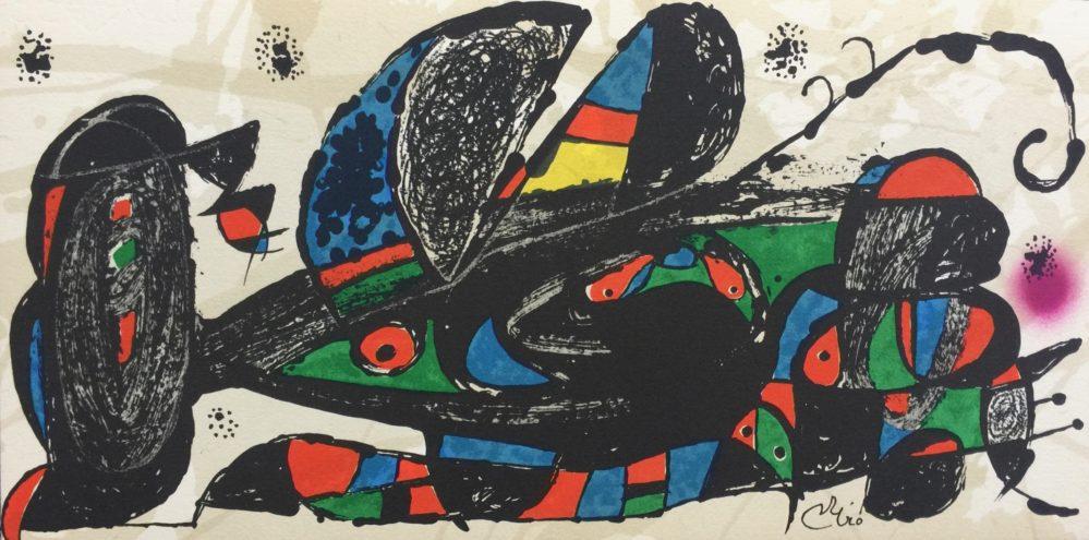 Joan Miro ESCULTOR IRAN 1974 Plate Signed Lithograph