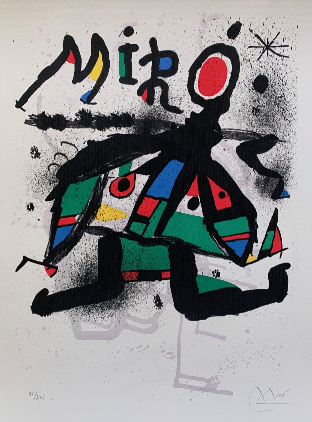 Joan Miro GALERIE MAEGHT Facsimile Signed Limited Edition Giclee