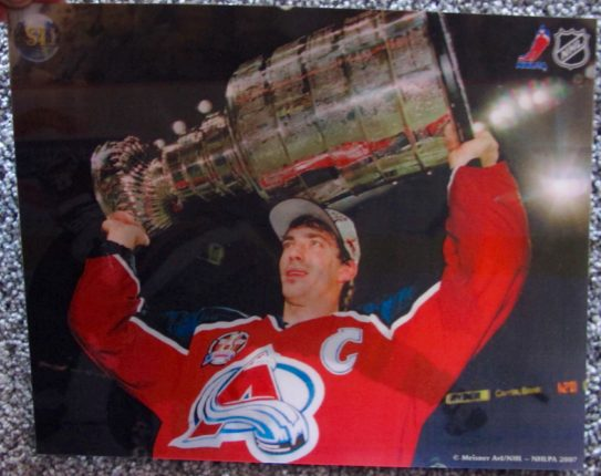 JOE SAKIC COLORADO AVALANCHE STANLEY CUP 3-D HOLOGRAPHIC PHOTO ICE HOCKEY NHL