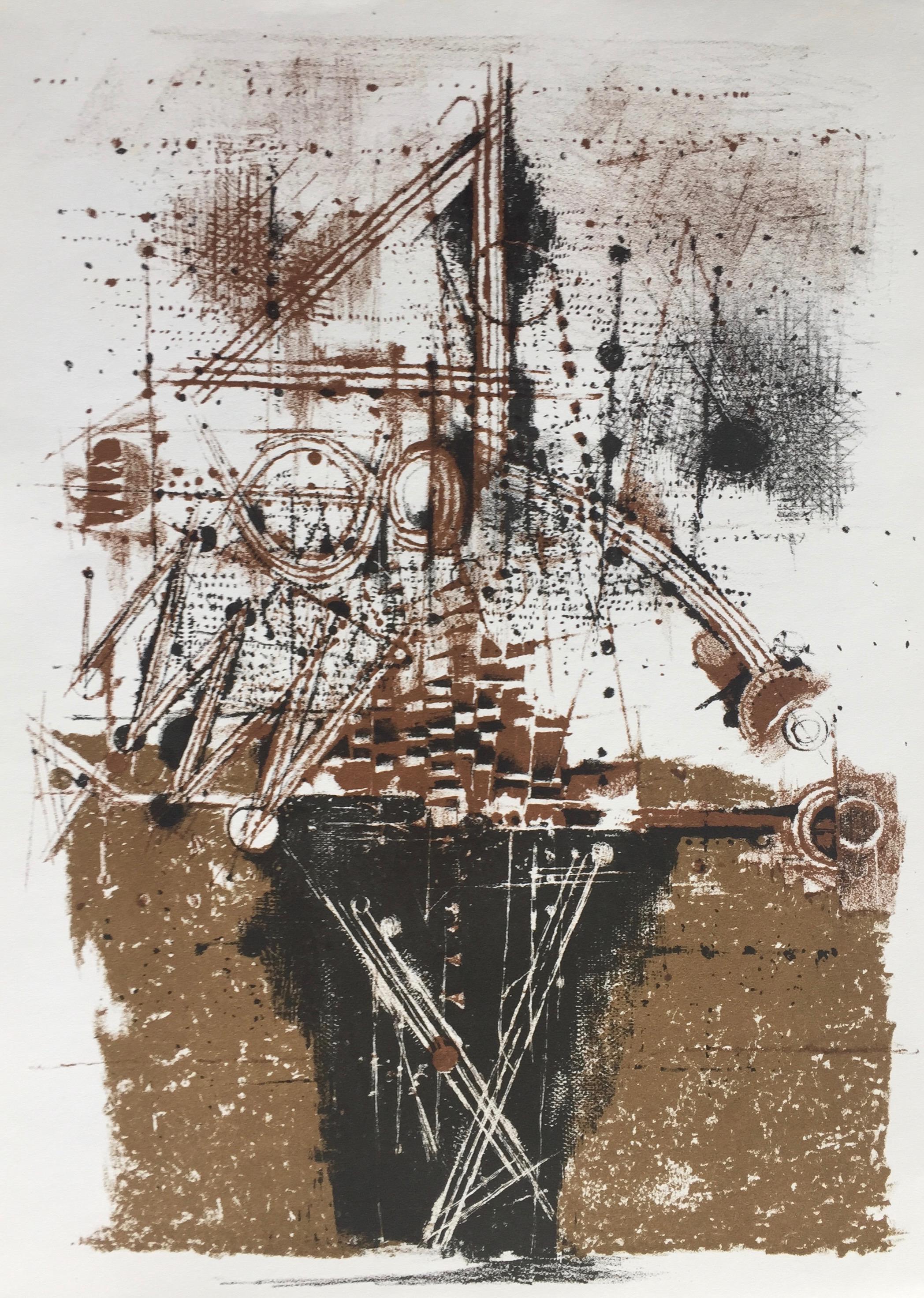 Johnny Friedlaender LES OIXEAUX 1973 Original Lithograph XXieme Siecle in Paris