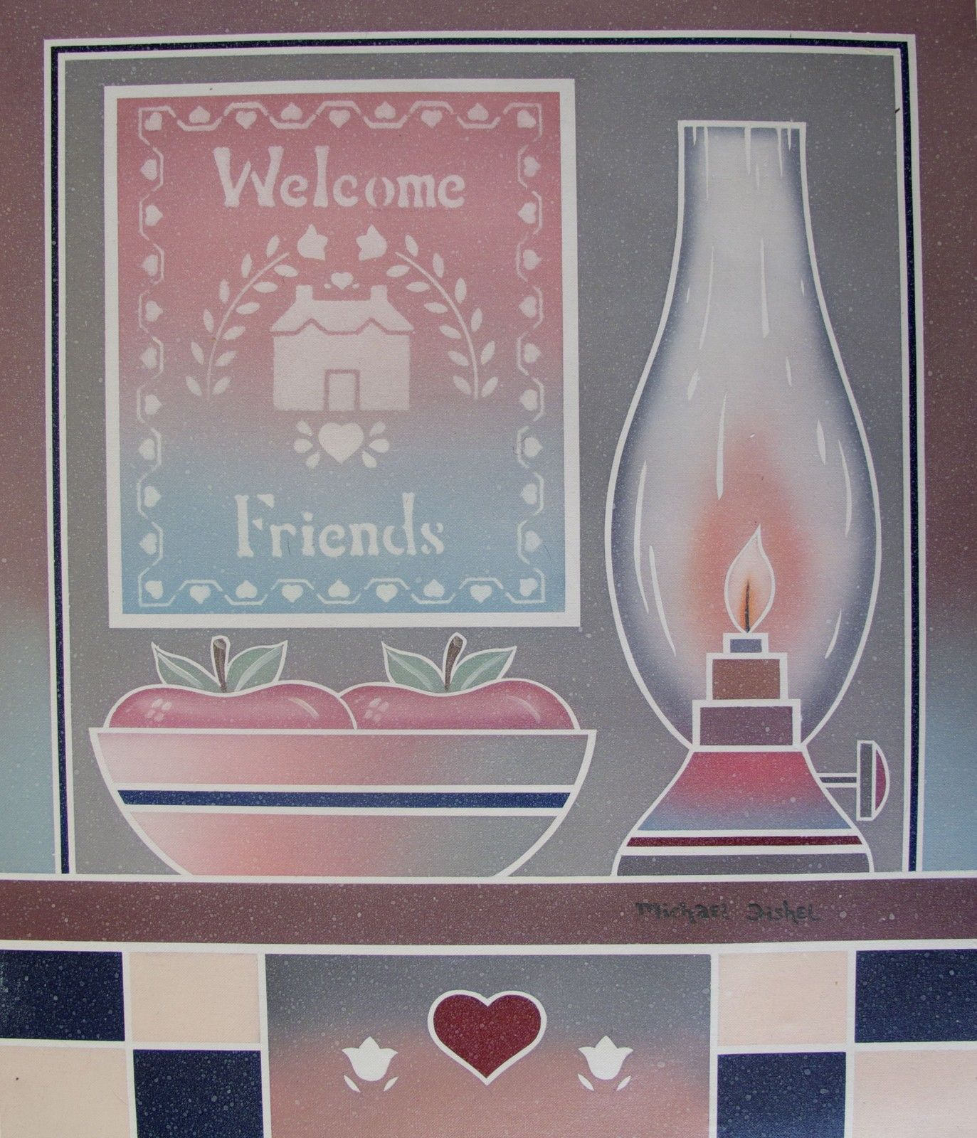 WELCOME FRIENDS Signed Original Oil Painting on Canvas