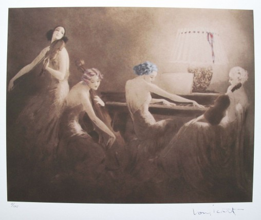 Louis Icart MELODY HOUR Limited Edition Giclee