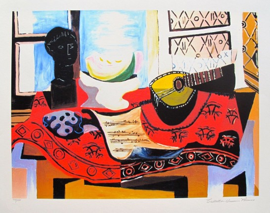 #02 STILL LIFE WITH MANDOLIN Pablo Picasso Estate Signed Giclee