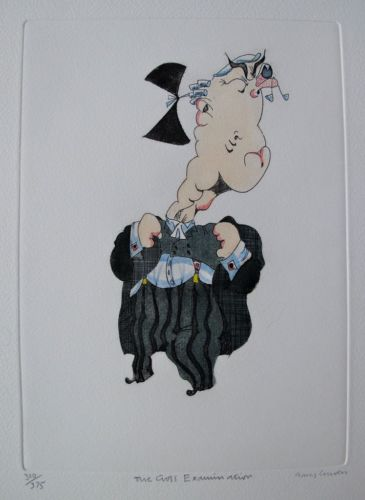 Gary Craven THE CROSS EXAMINATION Hand Signed Limited Edition Etching