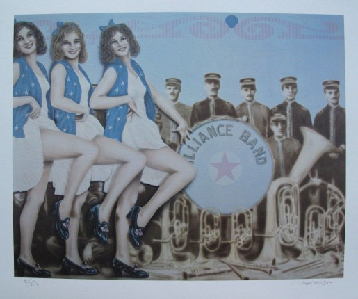 Robert Anderson ALLIANCE BAND Hand Signed Limited Edition Lithograph