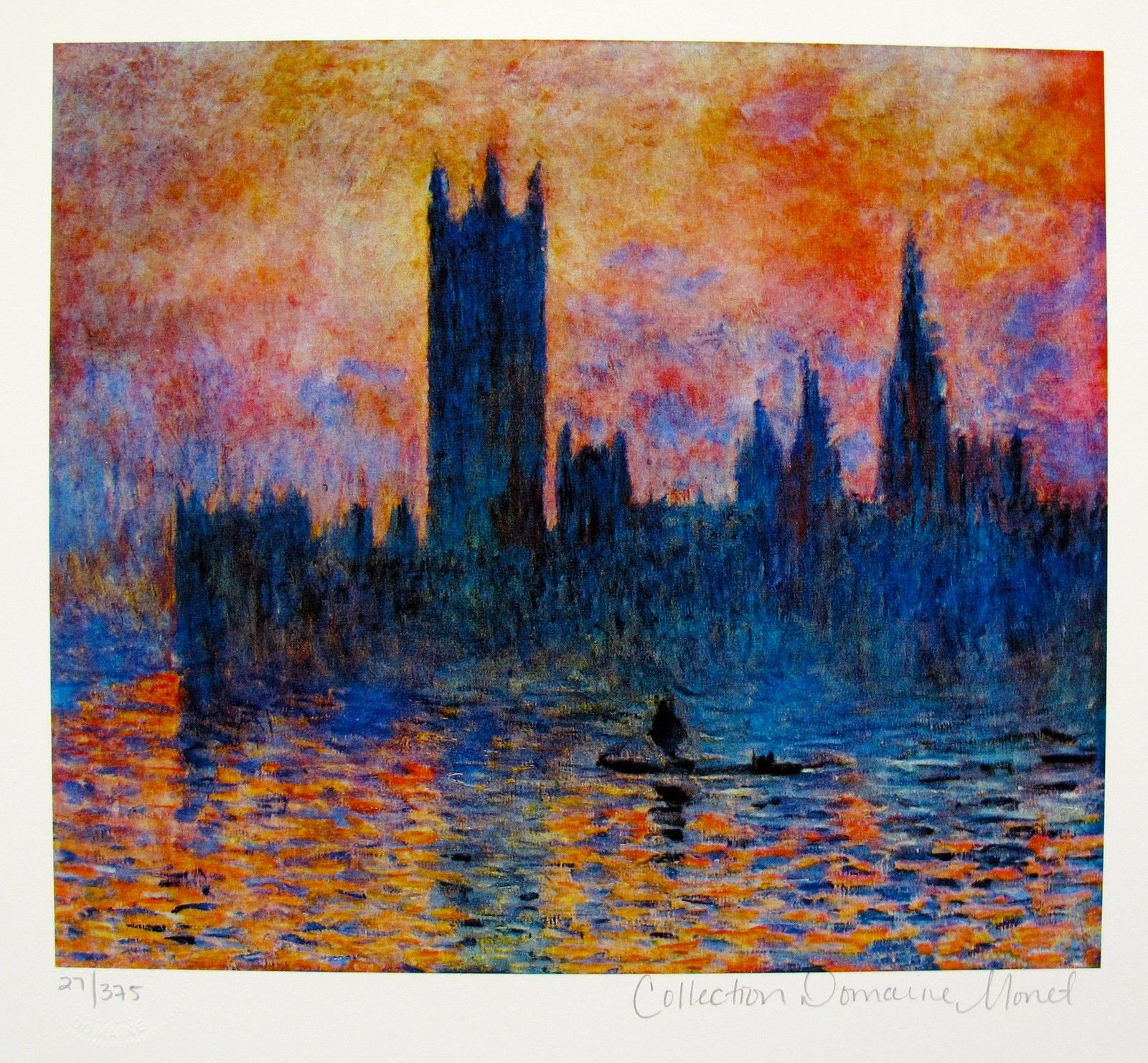 Claude Monet HOUSES OF PARLIAMENT Estate Signed & Stamped Limited Edition Small Giclee