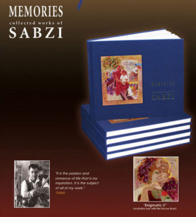 "Sabzi Hand Signed Deluxe Art Book Memories with Limited Edition Giclee ""Egnimatic II'"