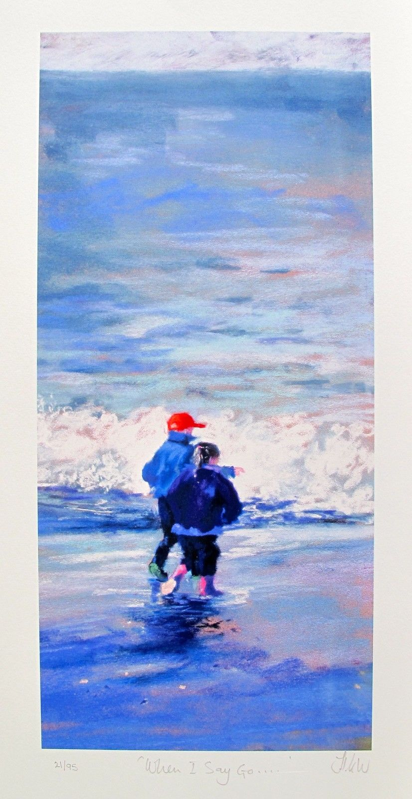 Nel Whatmore WHEN I SAY GO... Hand Signed Limited Edition Giclee