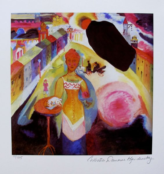 Wassily Kandinsky LADY IN MOSCOW Estate Signed Limited Edition Small Giclee