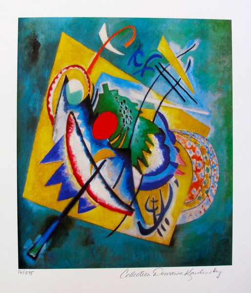 Wassily Kandinsky RED OVAL Estate Signed Limited Edition Small Giclee