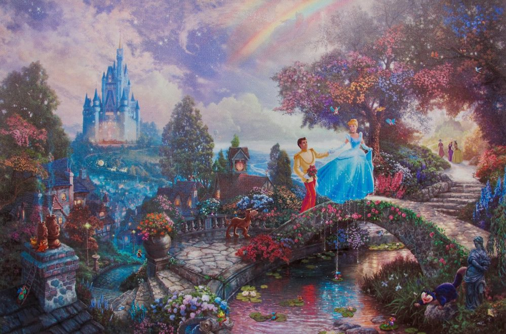 Kinkade Cinderella and the Prince