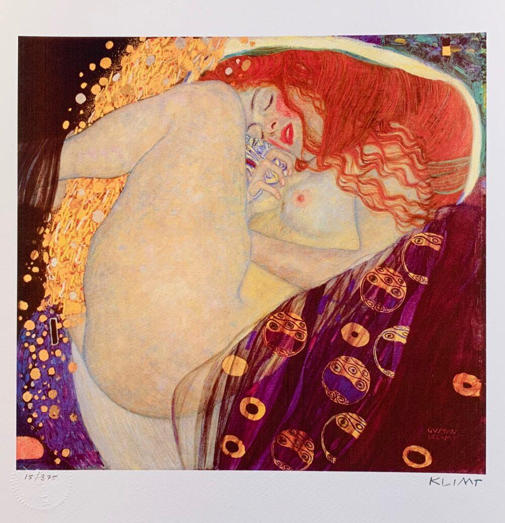 Gustav Klimt DANAE Facsimile Signed Limited Edition Giclee