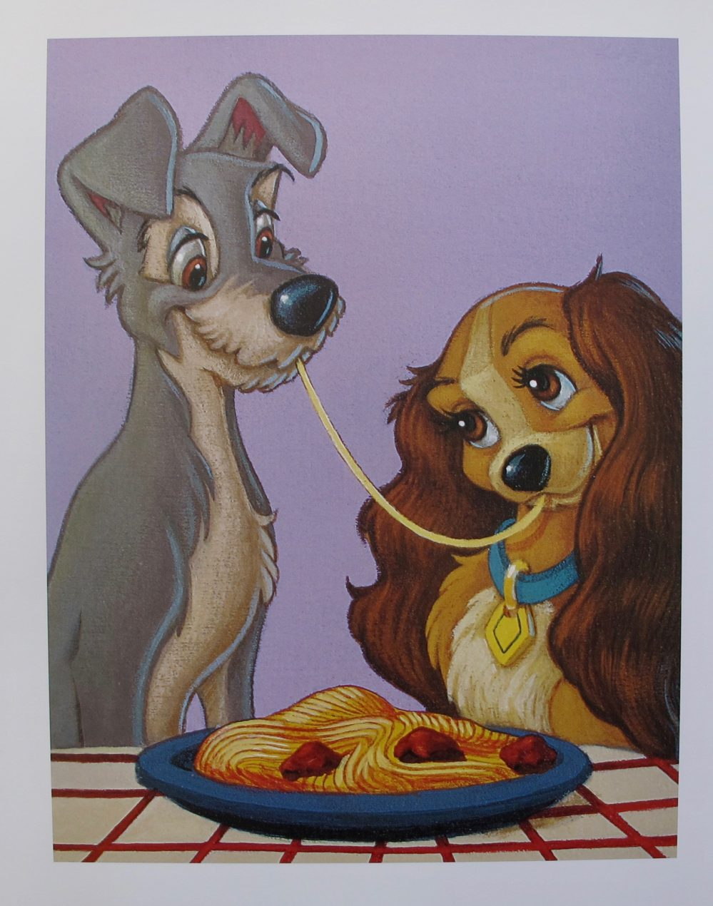 DISNEY LADY AND THE TRAMP Lithograph