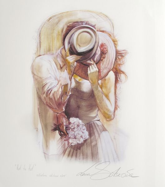 "LENA SOTSKOVA ""HAT TO HAT"" Hand Signed Limited Ed. Giclee Study on Paper"
