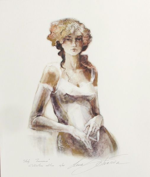 "LENA SOTSKOVA ""INNOCENCE"" Hand Signed Limited Ed. Giclee Study on Paper"