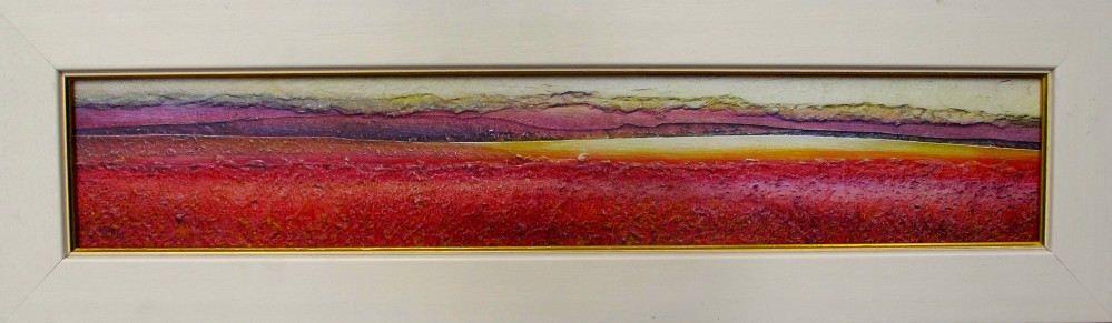 "LYNN POLAND ""POPPY FIELD"" Framed Hand Signed Giclee - READY TO HANG!"
